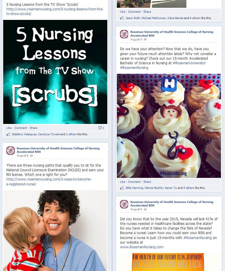 Roseman nursing on social media