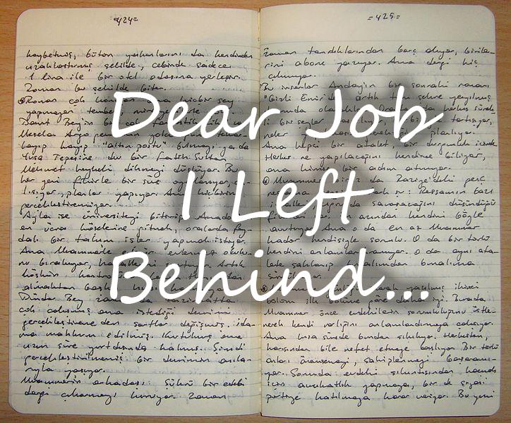 Job I left behind